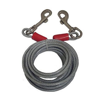 Blackrock Galvanized Steel 25-foot Cable Tie Down with Bolt Snaps