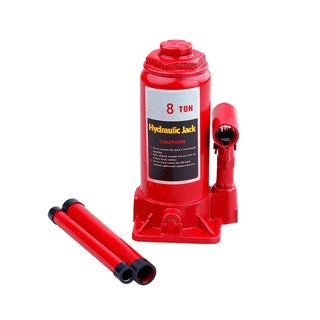 Speedway Red Metal 8-ton Hydraulic Bottle Jack