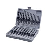 Professional Woodworker 25-Piece Brad Point Drill Bit Set - Black