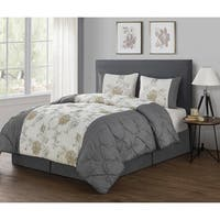 VCNY Alexis 4-piece Embroidered Pintuck Comforter Set