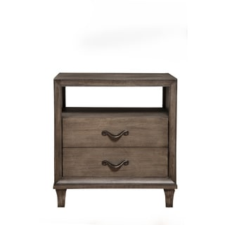 Alpine Charlston Nightstand with Drawer & Shelf