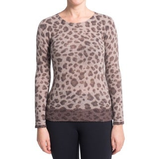 Premise Women's Animal-print Cashmere 2-tone Sweater