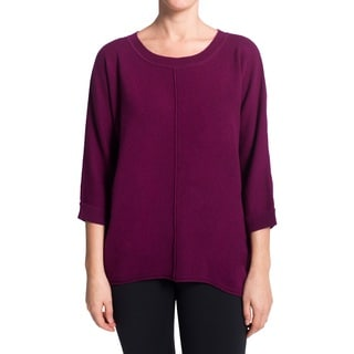Premise Cashmere Women's Shirttail Hem Pull-on Cashmere Sweater