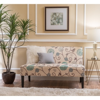 Dejon Modern Floral Upholstered Fabric Love Seat by Christopher Knight Home