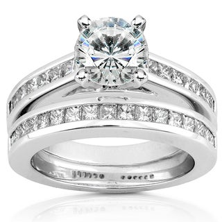 Annello by Kobelli 14k White Gold Certified 2ct Diamond Eco-Friendly Lab Grown Diamond Princess Channel Bridal