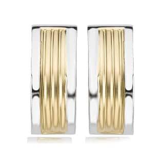 Avanti 14K Two Tone J Hoop Omega Clip Earrings|https://ak1.ostkcdn.com/images/products/13004834/P19748928.jpg?impolicy=medium