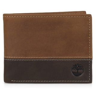 Timberland Men's Genuine Leather Bifold Commuter Wallet