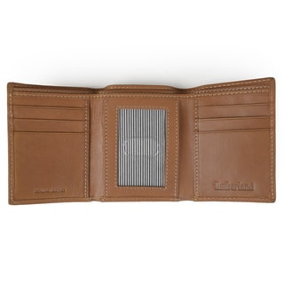 Timberland Men's Genuine Leather Trifold Wallet