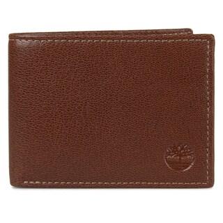 Timberland Men's Genuine Leather Bifold Commuter Wallet