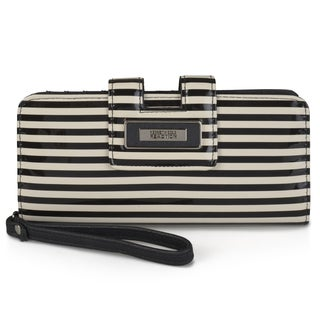Kenneth Cole Reaction Women's Striped Tab Clutch Wallet