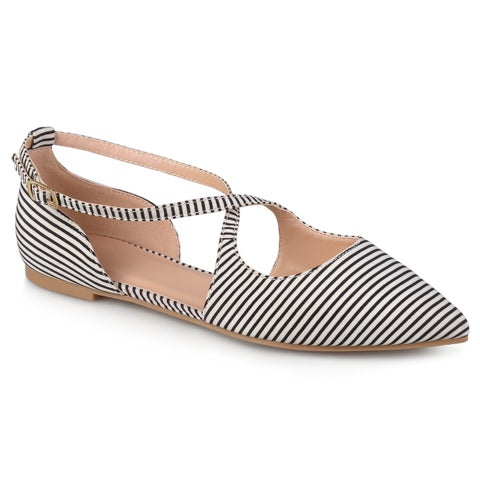 Journee Collection Women's 'Malina' Pointed Toe Crossover Flats