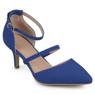 Journee Collection Women's 'Chaney' Faux Suede Ankle Strap Pumps