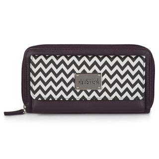 Kenneth Cole Reaction Women's Chevron Print Urban Organizer Clutch Wallet