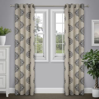 Journee Home 'Aileas' Printed 84 inch Grommet Top Curtain Panel|https://ak1.ostkcdn.com/images/products/13005398/P19749342.jpg?impolicy=medium