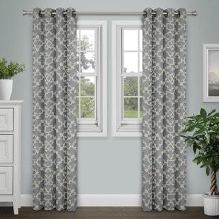 Journee Home 'Aileas' Printed 84 inch Grommet Top Curtain Panel