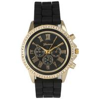 Olivia Pratt Women's Metal and Stainless Steel Rhinestone-accented Decorative Chronograph Watch