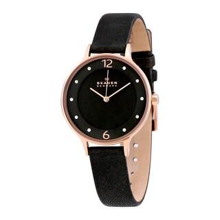 Skagen Women's SKW2267 Grey Leather and Stainless Steel Quartz Watch