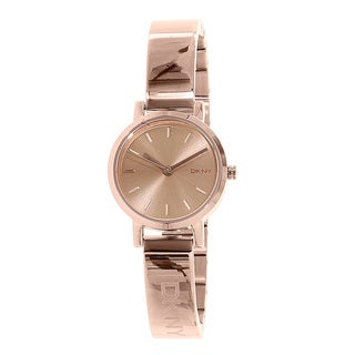 DKNY Women's Soho NY2308 Rose and Goldtone Stainless Steel Quartz Watch