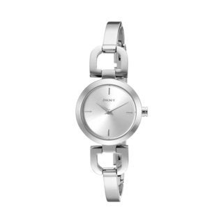 DKNY Women's NY8540 Silvertone Stainless Steel Bangle Quartz Watch