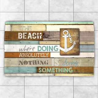 Laural Home Beach Motto Accent Rug (2' x 3')