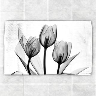 Laural Home Polyester X-ray Monochromatic Tulips Accent Rug (2' x 3')