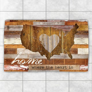 Laural Home Home Is Where The Heart Is Brown Polyester Accent Rug (2' x 3')