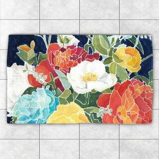 Laural Home 'Midnight Garden' Multicolor Polyester Accent Rug - 2' x 3'