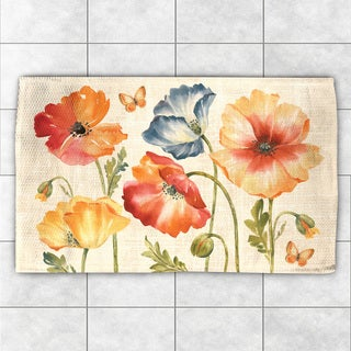 Laural Home Colorful Poppies Accent Rug (2' x 3')