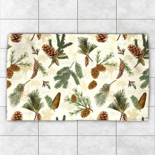 Laural Home Evergreen Pinecones Accent Rug (2' x 3')