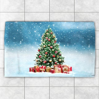 Laural Home Winter Wonderland Blue/Green Polyester Accent Rug (2' x 3')