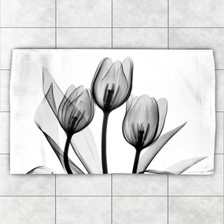 Laural Home X-Ray Monochromatic Tulips Accent Rug (4' x 6')