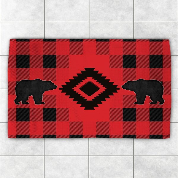 Shop Laural Home Lodge Buffalo Plaid Red And Black