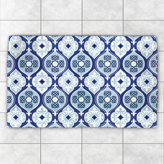 Laural Home Moody Blues Pattern Accent Rug (4' x 6')