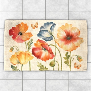 Laural Home Colorful Poppies Multicolor Polyester Accent Rug (4' x 6')