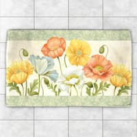 Laural Home Polyester Poppy Garden Accent Rug - multi
