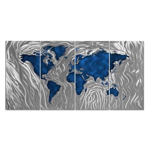 Ash Carl 'Mapped Out' Metal Wall Art