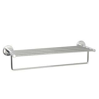 Never Rust Commercial Aluminum Hotel Towel Shelf - Chrome