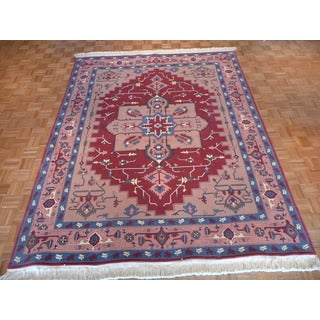 Oriental Serapi Wool Hand-knotted Rug (8 x 10)