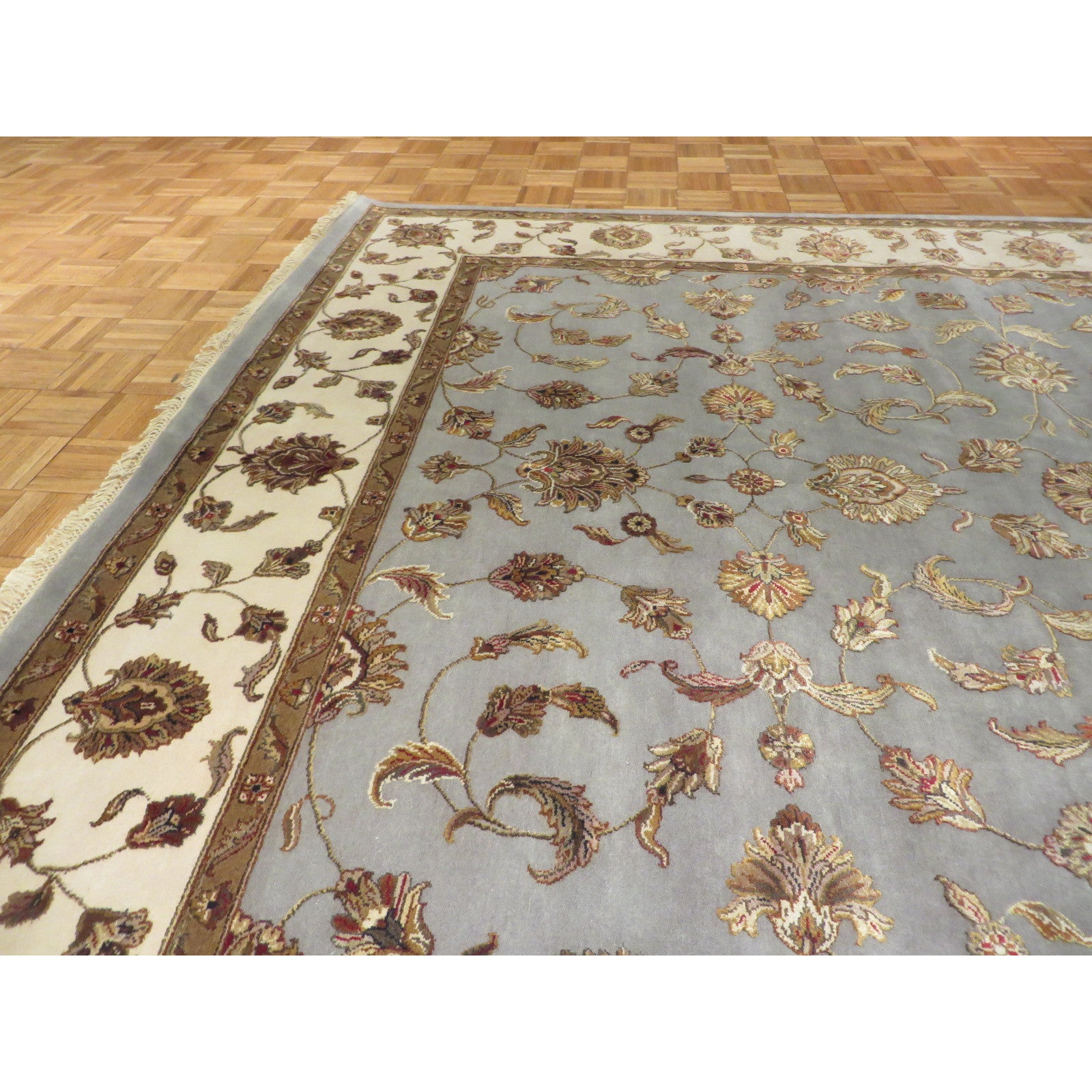 Tabriz Oriental Blue Tan Red Sage Gold Brown Wool And Silk Hand Knotted Rug 7 11 X 9 11 On Sale Overstock 13005698