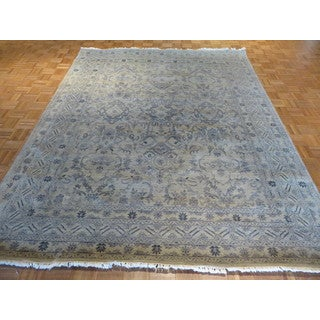 Oushak Beige Wool Hand-knotted Oriental Rug (8 x 10'2)