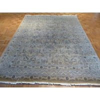 Oushak Beige Wool Hand-knotted Oriental Rug - 8 x 10'2