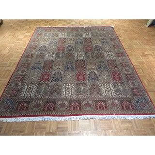 Tabriz Multicolor Wool/Silk Hand-knotted Oriental Rug (8'3 x 10)