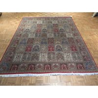 Tabriz Multicolor Wool/Silk Hand-knotted Oriental Rug - 8'3 x 10