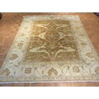 Oriental Brown Wool Oushak Hand-knotted Rug - 8'6 x 9'11