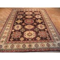 Oriental Kazak Brown Hand-knotted Wool Rug - 8'9 x 11'6
