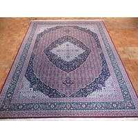 Fine Hand-knotted Bijar Oriental Red Wool and Silk Area Rug - 9 x 11'10
