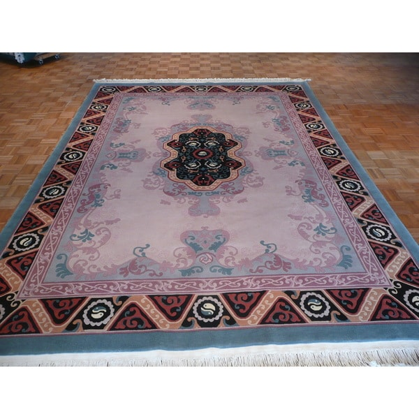 Shop Oriental Chinese Aubusson Taupe 100 Percent Wool Hand