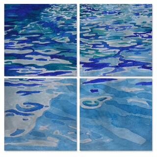 All My Walls Janice Ashworth 'Reflection' Blue Metal Wall Art