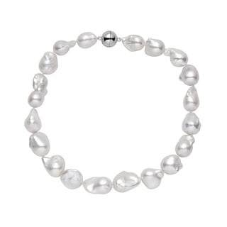 Sterling Silver Baroque Pearl Extra-large Necklace