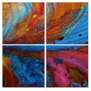 Marina Rehrmann 'Energy Flow #4' Metal Wall Art